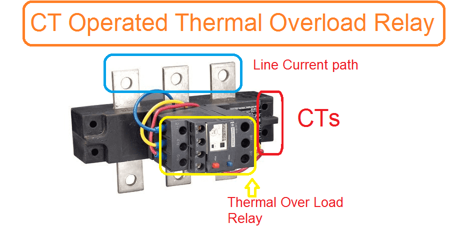 Ct operated thermal over load relay