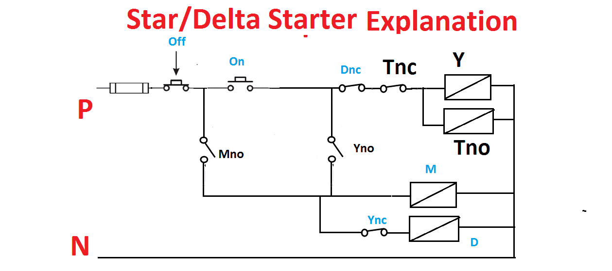 Star Delta Starter Wiring Diagram With Full Explanation