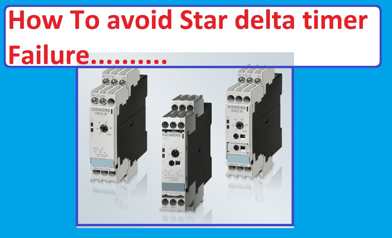 How To Avoid Star Delta Timer Failure In Starter Wiring Diagram Of With Electrical4u