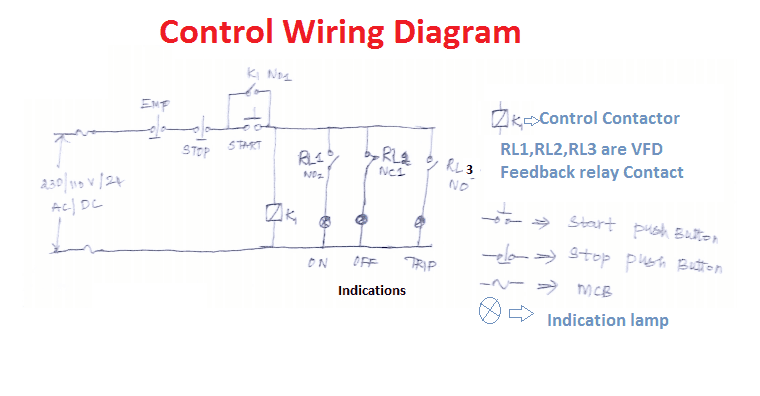 VFD start stop wiring diagram | Electrical4u on