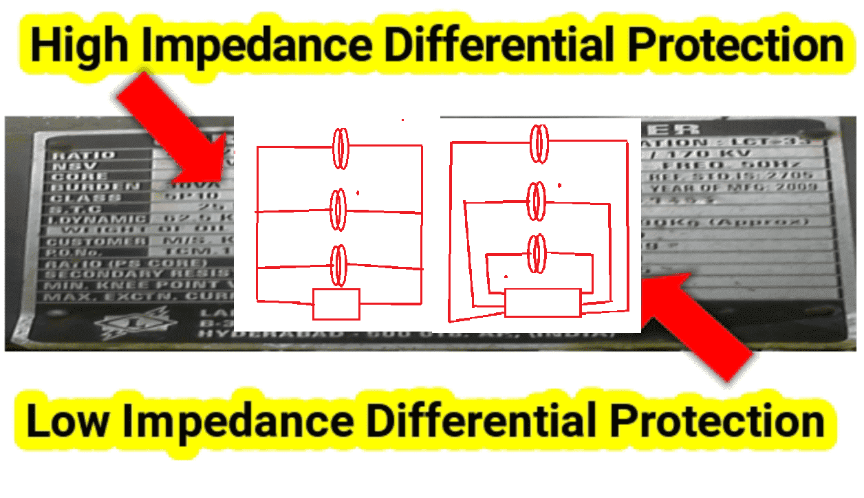 High Impedance Differential Protection Low Impedance