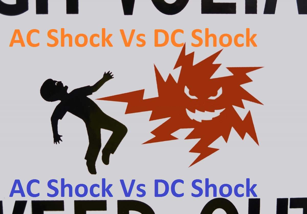 AC shock vs DC shock