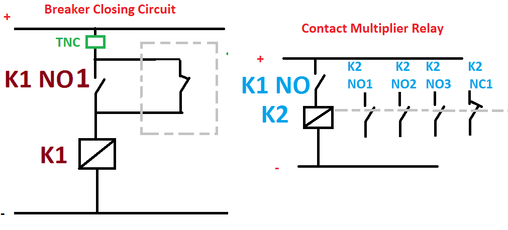 Contact Multiplier Relay Working Function & Wiring diagram