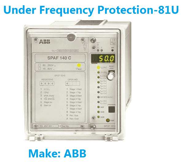 Under frequency protection