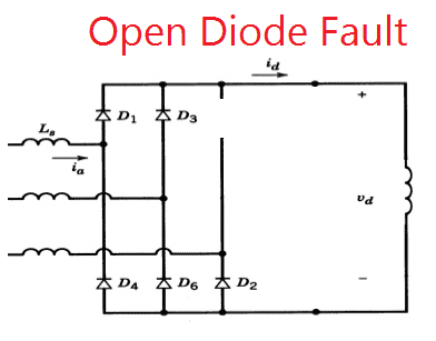 Diode failure relay open diode