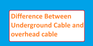 Difference Between Underground Cable and overhead cable