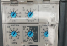 MCCB current setting breaker