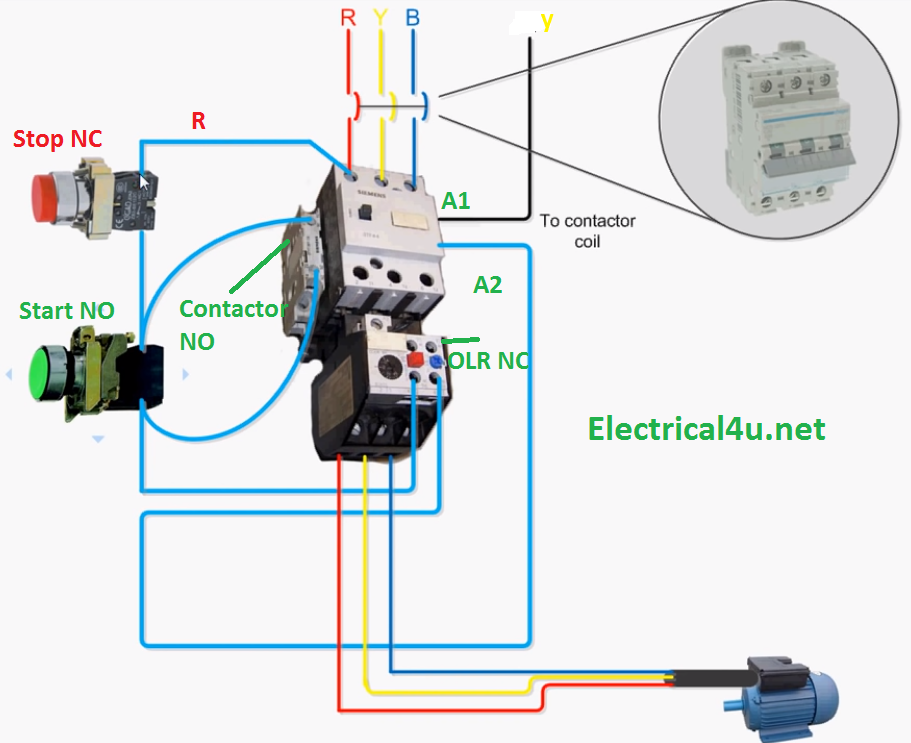 Motor Starter With Overload Protection Wiring Diagram