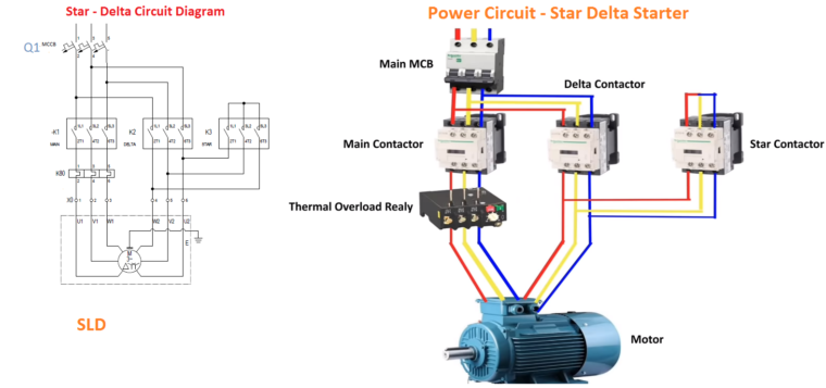 star delta motor connection