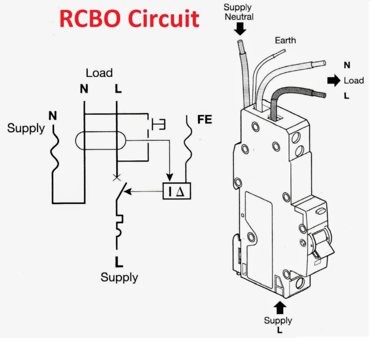 RCBO is an connection diagram