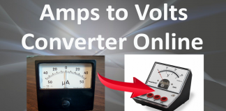 Amps to Volts Calculator