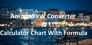 Amps to kW Converter & Calculator Chart With Formula-min
