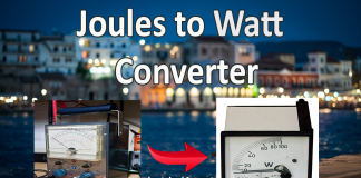 Joules to Watts Converter Online (J to W)