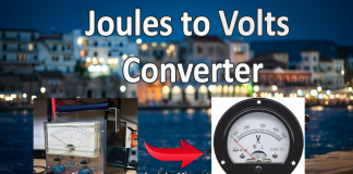 Joules to volts (J to V) Converter Online
