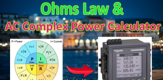 Ohms Law calculator and AC complex Power Calculator