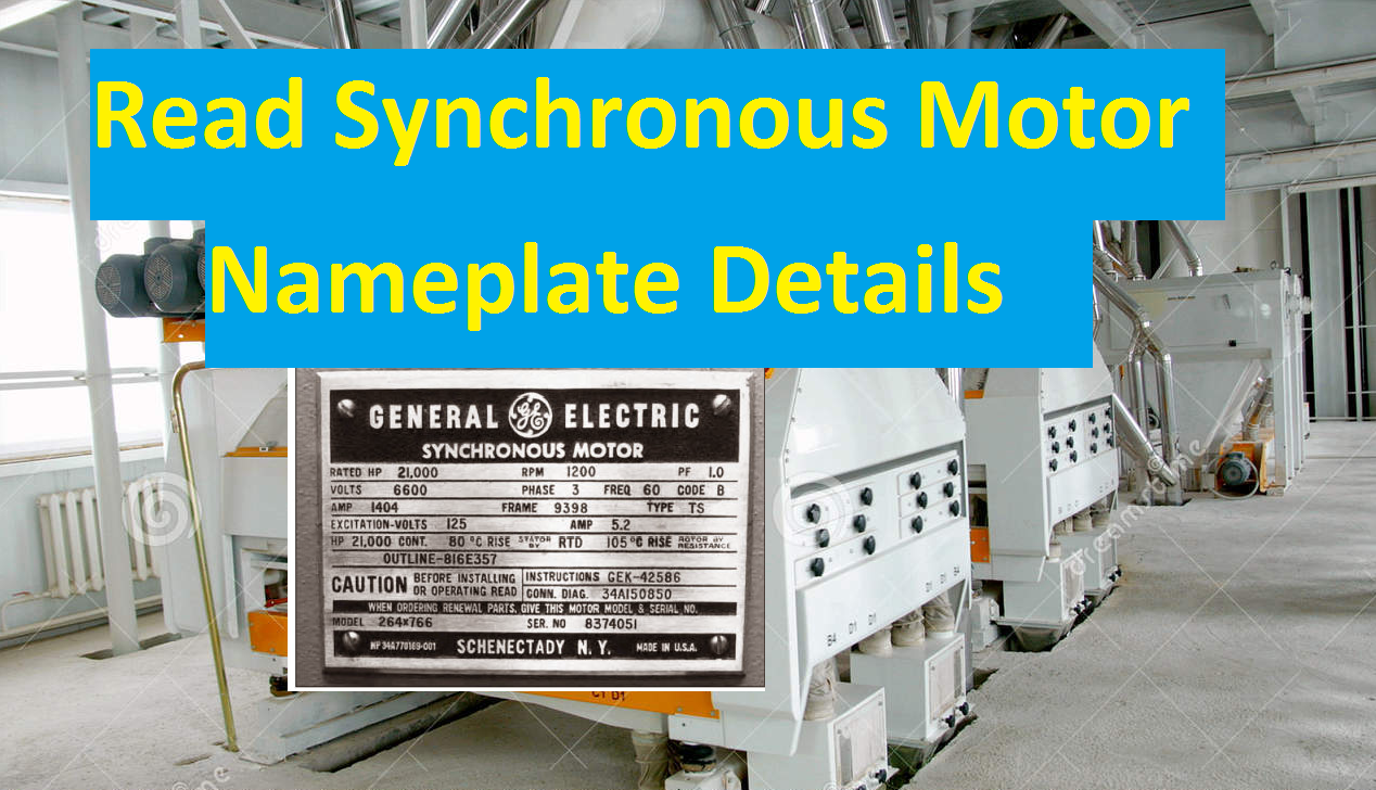 Synchronous Motor Name Plate details