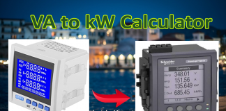 VA to kW conversion calculator