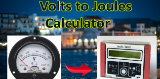 Volts to joules conversion calculator