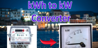 kWh to kW Calculator