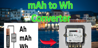 mAh to Wh conversion calculator