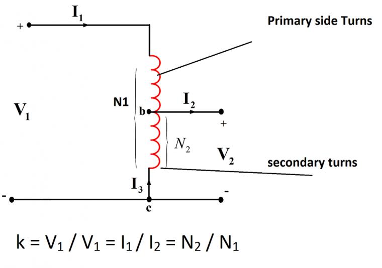 Auto Transformer winding diagram