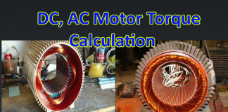 DC AC motor Calculation