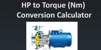 HP to torque (Nm) Conversion Calculator