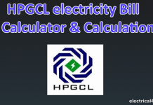 HPGCL Per Unit Cost & Haryana electricity Bill calculator & Tariff rate