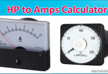 Hp to amps Conversion Calculator