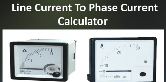 Line current to phase current