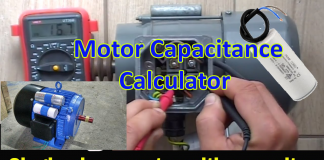 Motor Capacitance Calculator