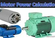 Motor power calculator