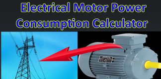 Motor power consumption Calculator