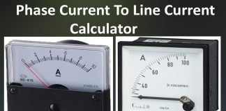 Phase current to Line current