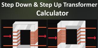 Step down transformer & Step up transformer calculator