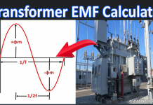 Transformer EMF Calculation Calculator With EMF Formula