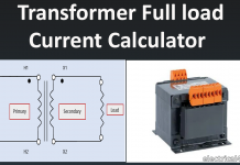 Transformer Full Load Current (amps) Calculation Calculator