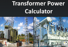 Transformer Power (W) calculator