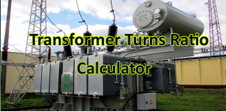 Transformer Turns Ratio Calculator From Turns, Voltage & Current