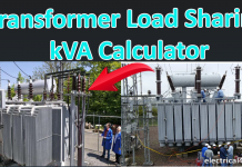 Transformer load sharing kVA Calculator Calculation