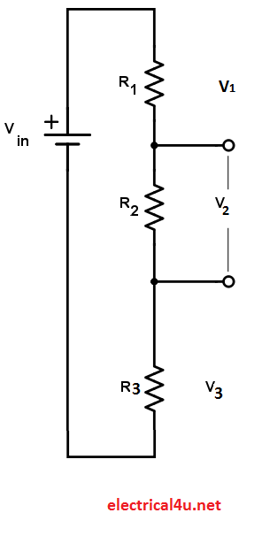 Voltage Divider Calculator for three resistance circuit