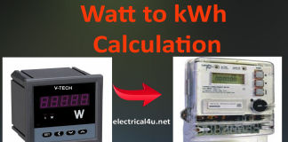 W to kWh Converter