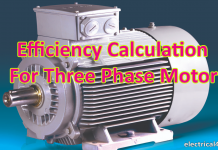 3 phase motor efficiency formula