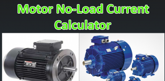 motor no load current calculator