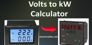volts to kw calculator