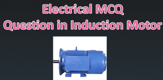 Electrical MCQ Question in induction motor