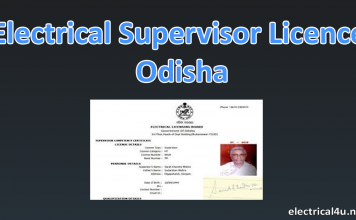 Electrical Supervisor License in Odisha