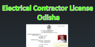 Electrical contractor license odisha