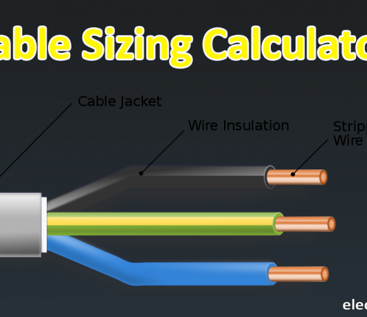 cable sizing calculator