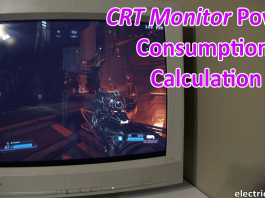 CRT Monitor power consumption-min